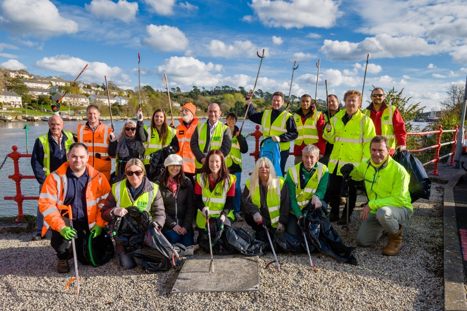 Truro and Newham Businesses Clean Up the City's Streets