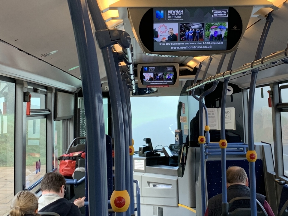Bus ad campaign reaches thousands of passengers