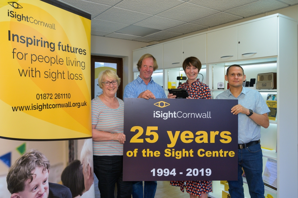 iSightCornwall is celebrating 25 years since first opening the Sight Centre