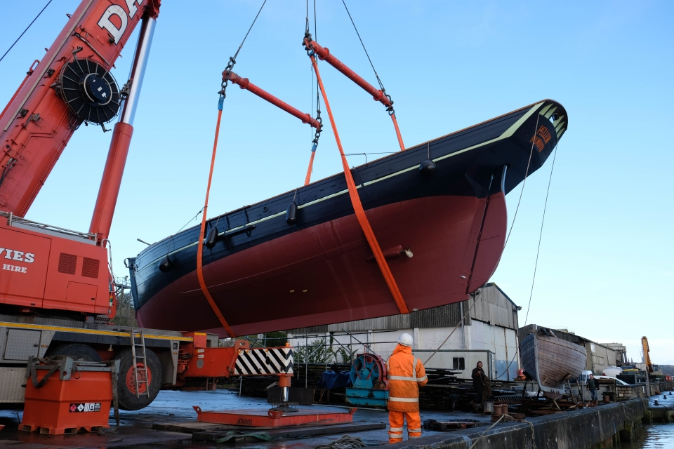 Cornish Cutter Launched into Waters at Newham